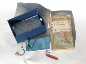 The first level of the interior - the maps and journal.