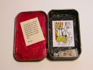 Mint tin shrine to creativity.