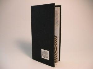Book board, book cloth, acetate, paper, gesso, paint.