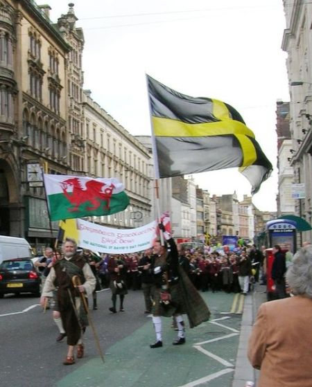 St Davids Day in Cardiff