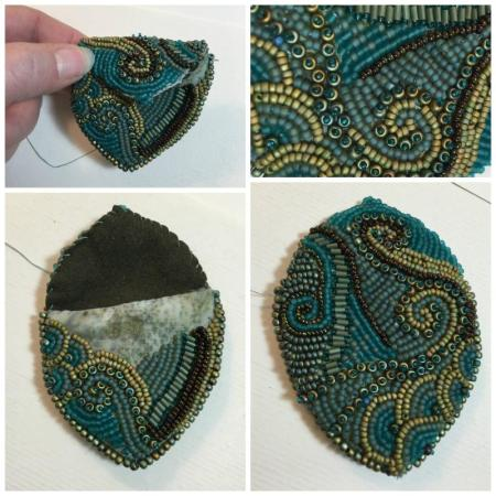 beaded bag as is
