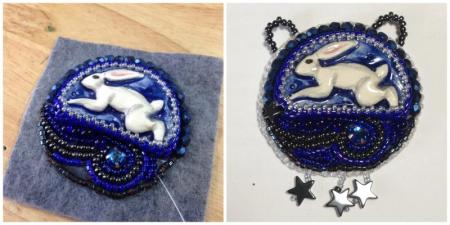 beaded moon hare