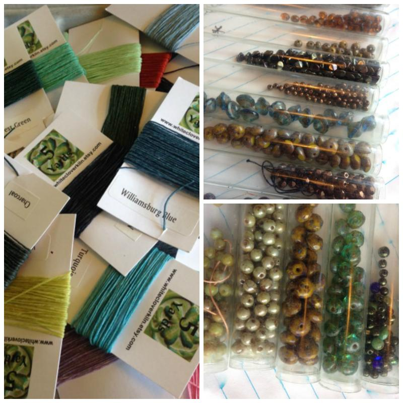 thread and beads choices!