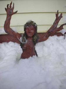 dryad in snow