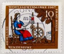 Frau Holle stamp