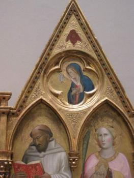 altarpiece triptych detail