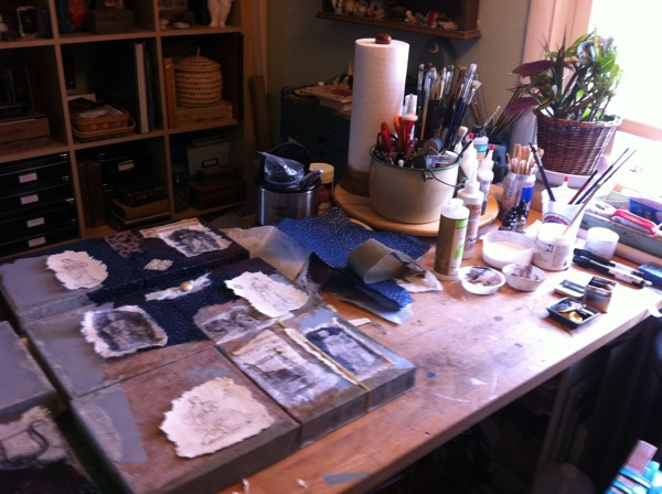 collage work table
