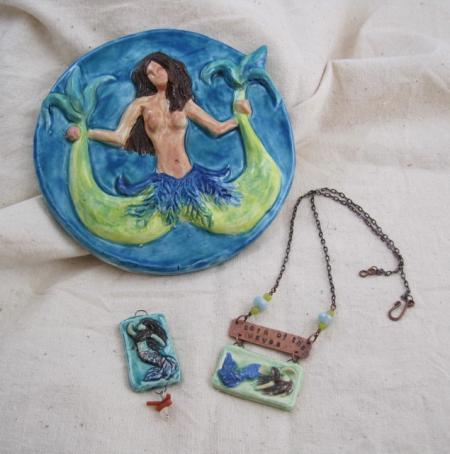 Mermaid tile and pendant
