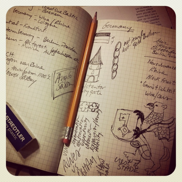 Travel challenge sketchbook