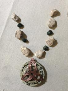 2. howlite and emeralds