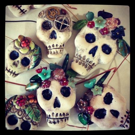 polymer sugar skulls