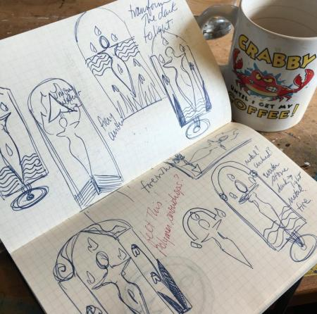 Brigid sketches