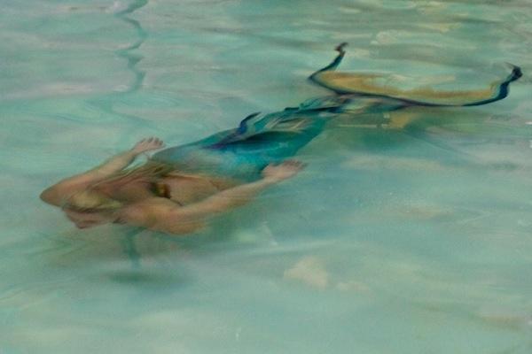 Mermaid in the pool!