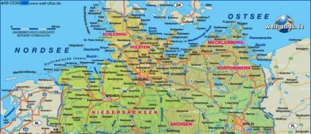 map north Germany