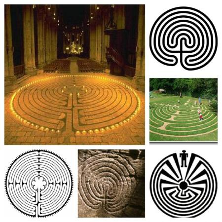 Labyrinth collage