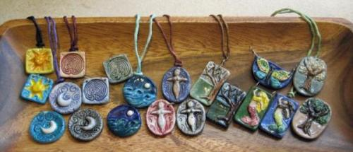 Pendants in tray