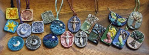 pendants in tray