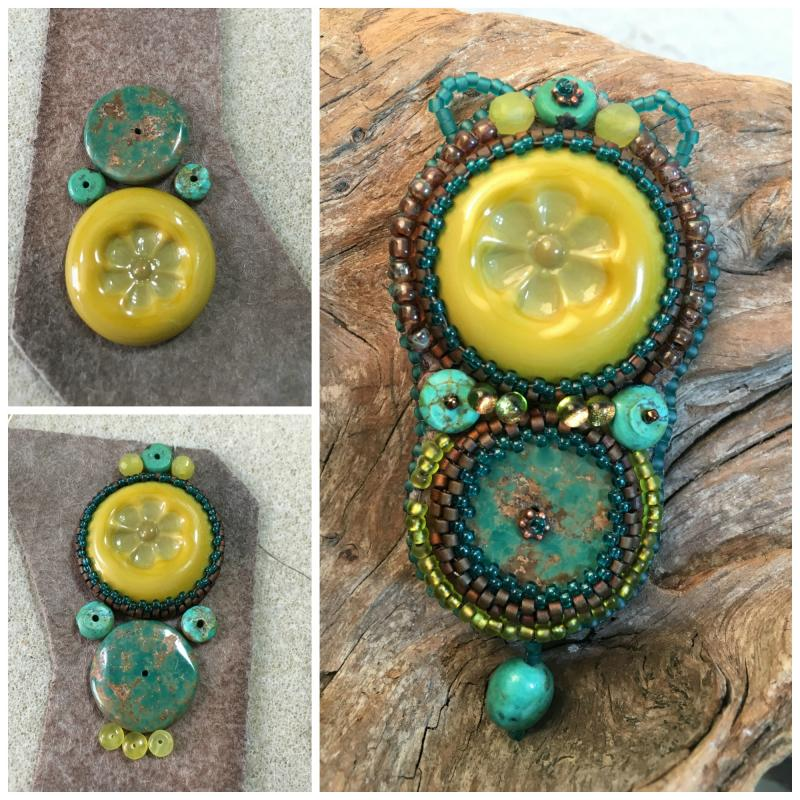 Sue beads in turquoise