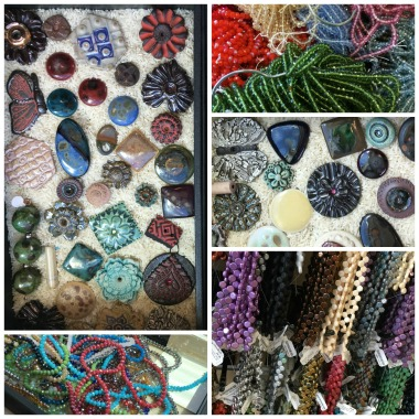 Lisa Peters Art cabs and eye candy beads!